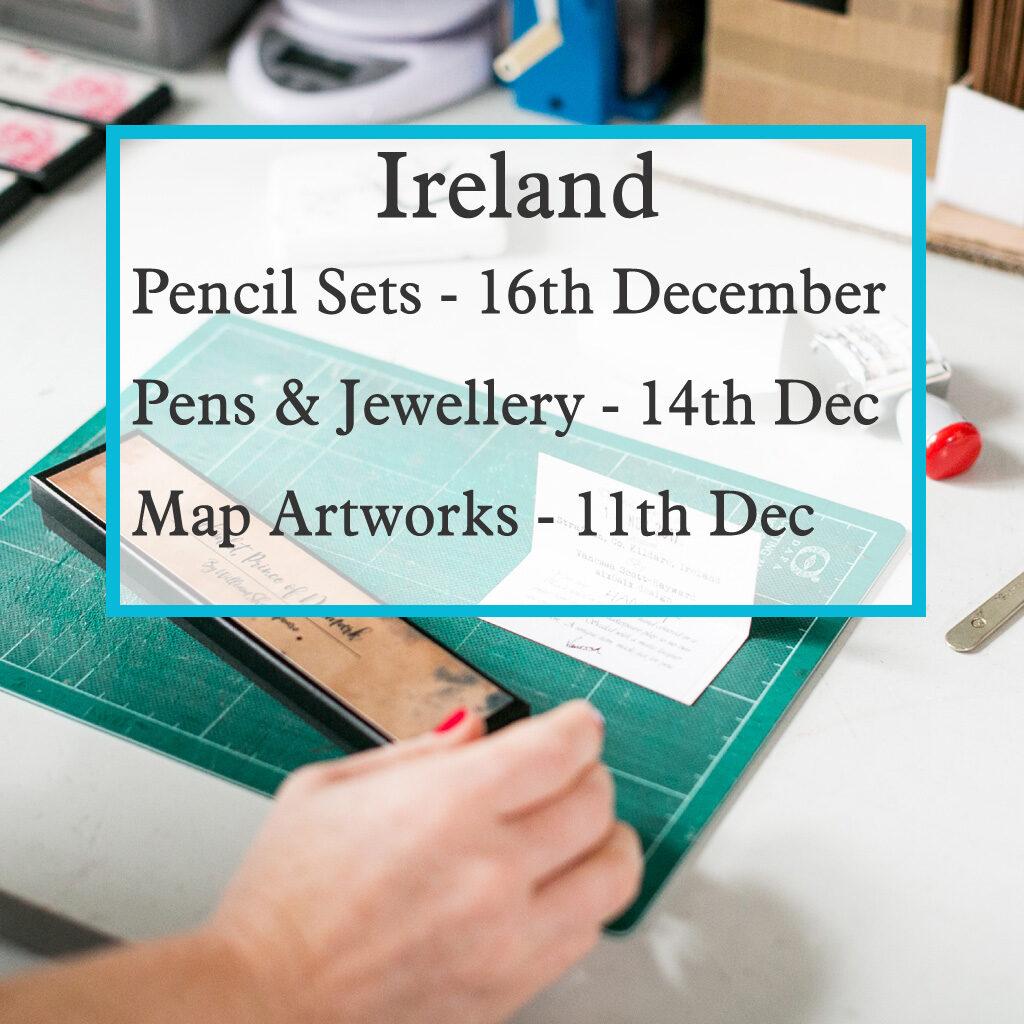Last order dates for Irish orders Christmas 2020
