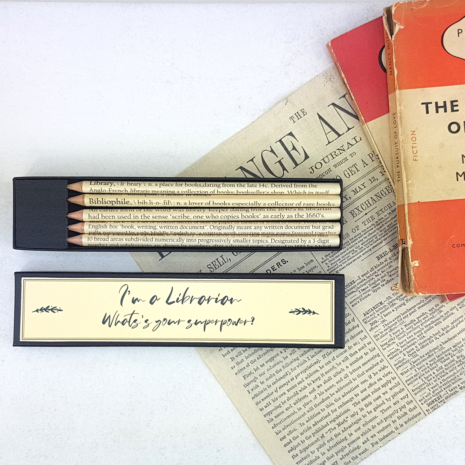 I'm a librarian what's your superpower pencil set