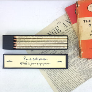 Im a librarian whats your superpower pencil set by six0six design