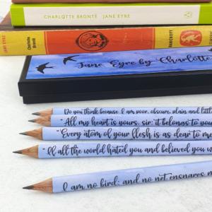 jane eyre quote pencils handmade in ireland