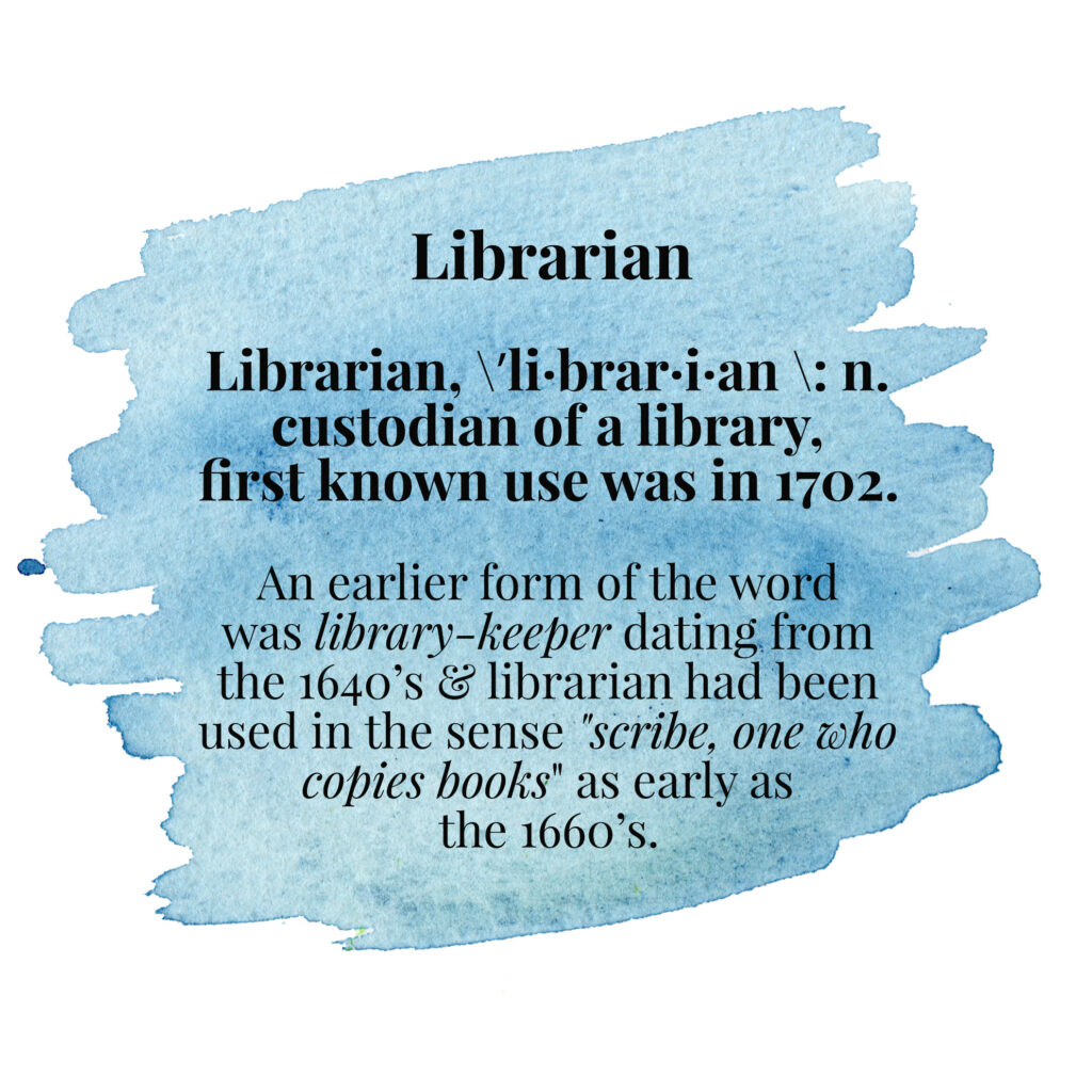 Librarian, the meaning behind the words, quotes used in my new librarian pencils