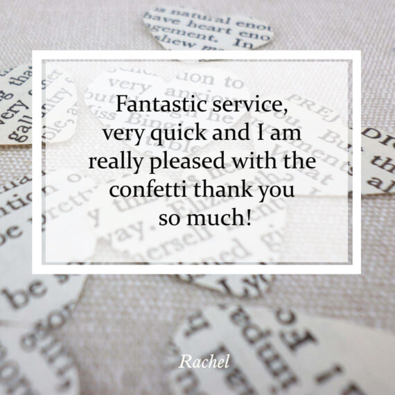 Fantastic service, very quick and I am really pleased with the confetti thank you so much!