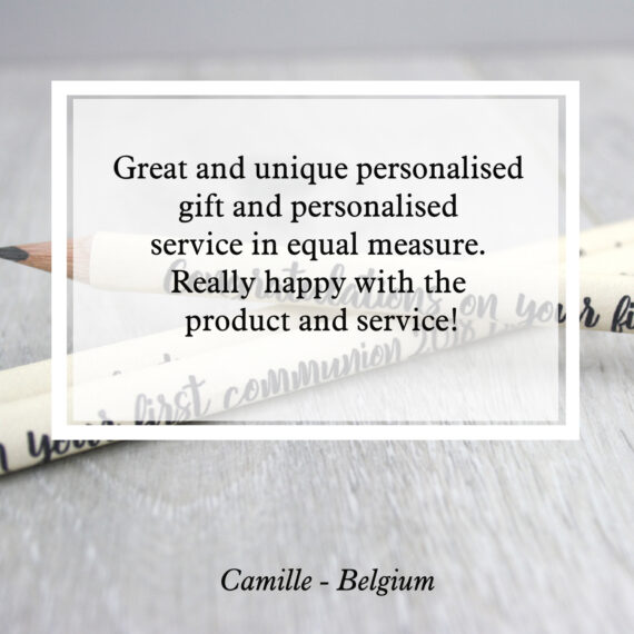 Great and unique personalised gift and personalised service in equal measure. Really happy with the product and service!