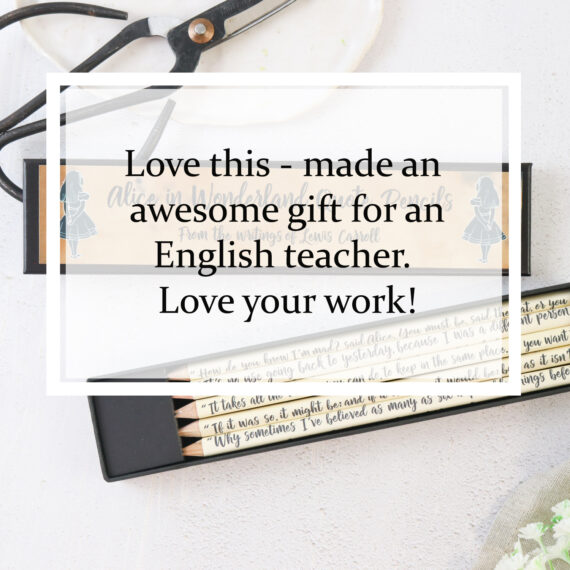 Love this - made an awesome gift for an English teacher. Love your work!