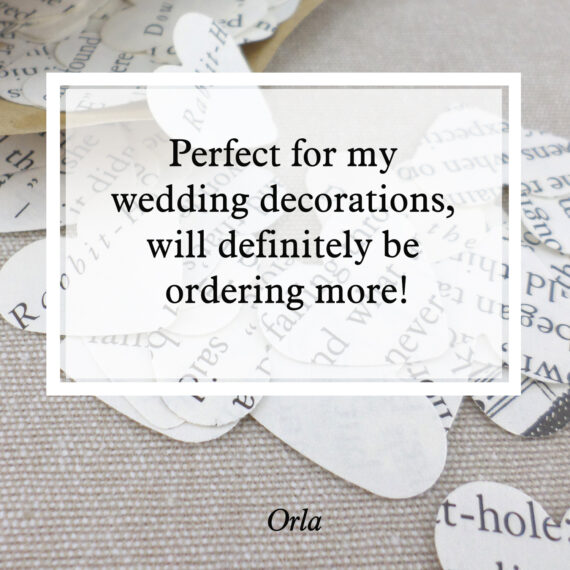 Perfect for my wedding decorations, will definitely be ordering more!