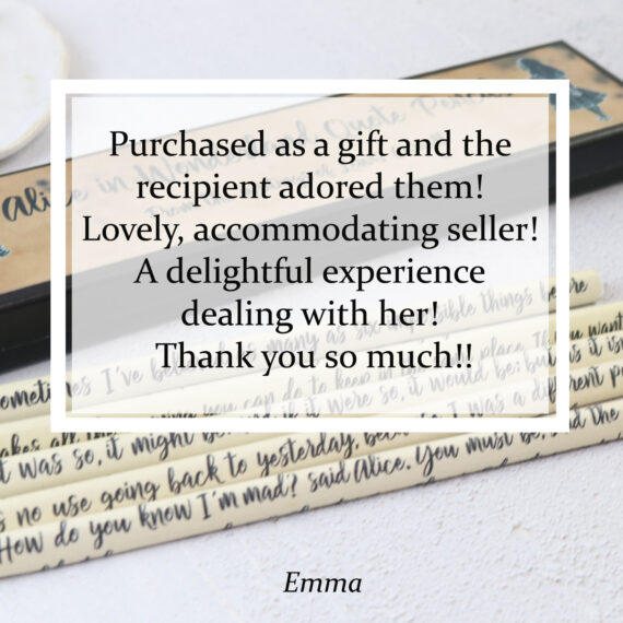 Purchased as a gift and the recipient adored them! Lovely, accommodating seller! A delightful experience dealing with her! Thank you so much!