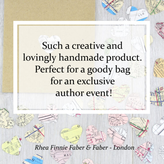 Such a creative and lovingly handmade product. Perfect for a goody bag for an exclusive author event!